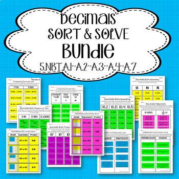Decimals Sort and Solve Bundle