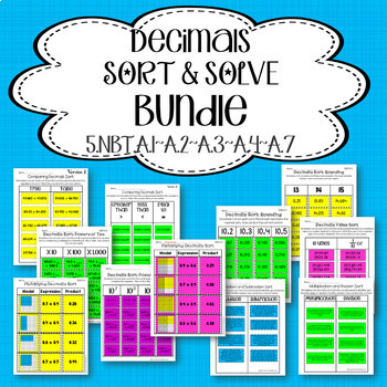 Decimals Sort and Solve Bundle