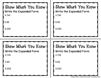 Decimals Standard Form to Expanded Form Don't Get ZAPPED Math Game