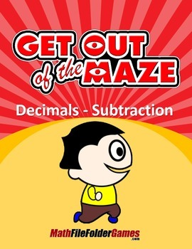 Decimals - Fun Subtraction Worksheets/Mazes (MINI BUNDLE)