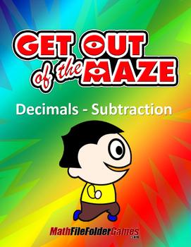 Decimals Worksheet - Subtraction