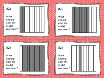 Decimals Task Cards (Set of 80 cards aligned to 4.2G & 4.2E)