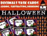 Decimals Task Cards (Adding, Subtracting, Comparing) Halloween