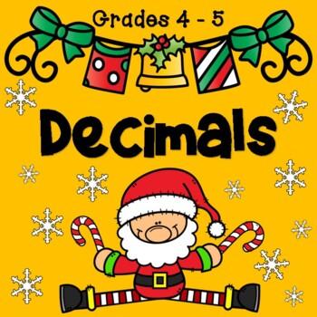 Decimal Task Cards ( Christmas Theme ) ADDITION/SUBTRACTION