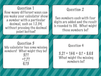 Decimals and Word Problems - Task Cards (Junior Grades)