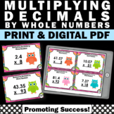 Multiplying Decimals and Whole Numbers Task Cards