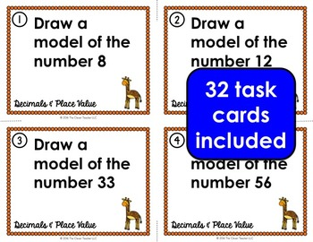 Decimals Place Value Task Cards