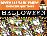 Decimals Task Cards (Rounding) Halloween