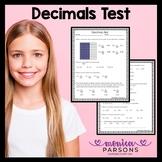 Decimals Test