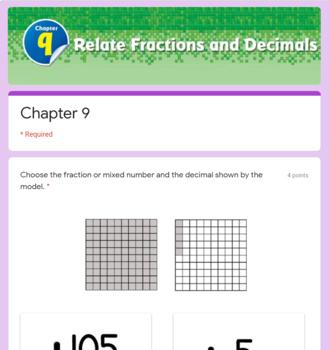 Decimals Test (Go Math Chapter 9 4th Grade)