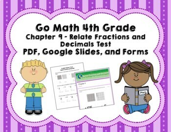Decimals Test (Go Math Chapter 9 4th Grade)