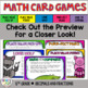 Decimals: Thousandths Math Card Games