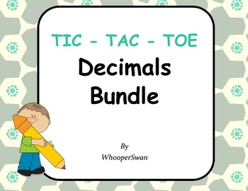 Decimals Tic-Tac-Toe Bundle