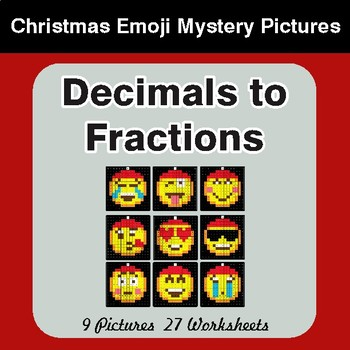 Decimals To Fractions - Color-By-Number Math Mystery Pictures