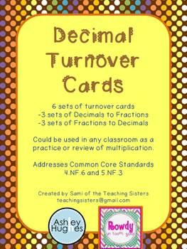 Decimals Turn Over Cards