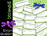 Decimals Unit - Exit Quest Tickets for all Topics