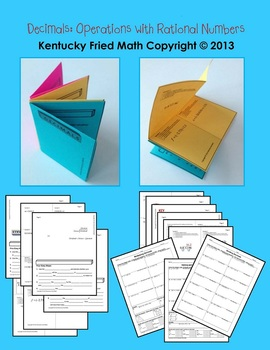 Decimals Unit Operations w Rational No. Printable Foldable Interactive Notebook