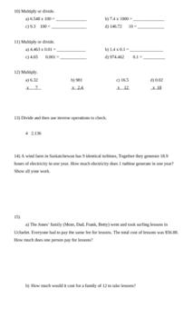 Decimals-Unit Test