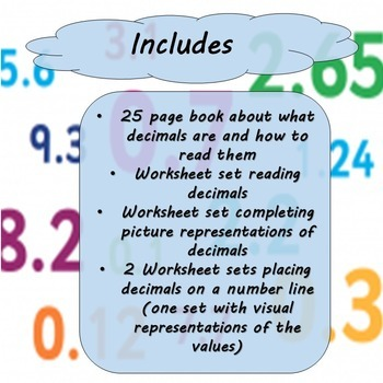 Decimals Unit for Special Education