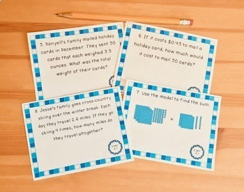 Decimals Word Problems: Winter Theme (Adding,Subtracting,Multiplying,Dividing)