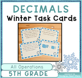 Decimals Word Problems: Winter Theme (Adding,Subtracting,M