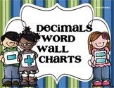 Decimals Word Wall Charts