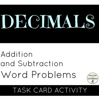 Decimal - Word problems with addition and subtraction of D