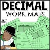 Decimals Work Mats Centers