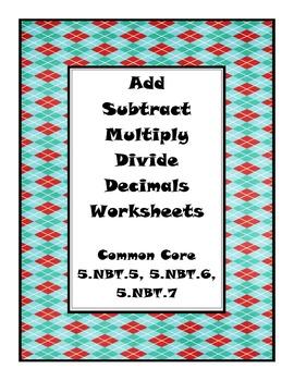 Decimals Worksheet Pack (Common Core)