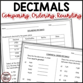 Rounding, Comparing, and Ordering Decimals To Thousandths