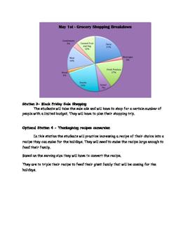 Decimals and Circle Graph Station Activities