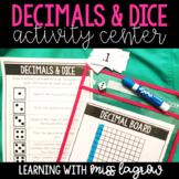 Decimals and Dice Math Center Activity
