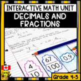 Decimals and Fractions Interactive Notebook Grades 4-5