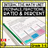 Decimals and Fractions Interactive Notebook Grades 5-6