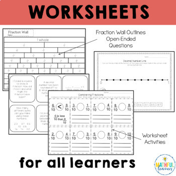 Fractions and Decimals Games, Worksheets and Activities
