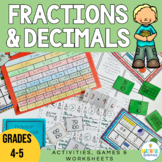 Converting Fractions to Decimals worksheets activities and games