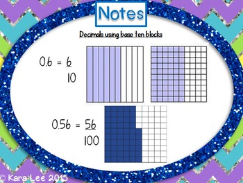 Decimals and Fractions PowerPoint and Note Taker
