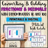 Decimals and Fractions Task Cards