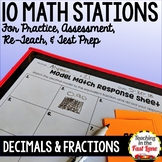 Relating Decimals to Fractions Math Stations