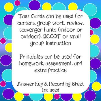 Decimals and Fractions to the Hundredths Task Cards and Worksheets