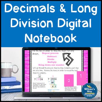 Decimals and Long Division Digital Notebook