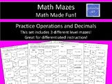 Decimals and Operations Math Maze