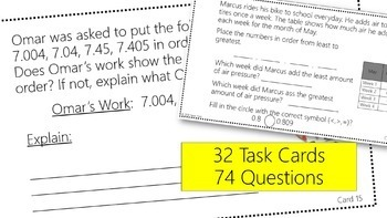 Decimals and Operations Task Cards #2