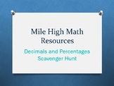 Decimals and Percentages Scavenger Hunt
