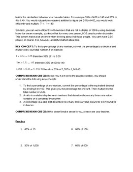 Decimals and Percentages Self Guided Packet