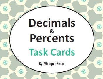Decimals and Percents Task Cards