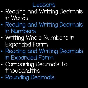 Decimals and Place Value Math Unit 5th Grade Interactive Powerpoint Common Core