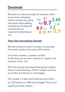 Decimals and Standard Form