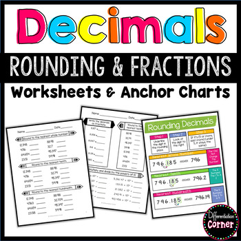 Decimals as fractions and rounding