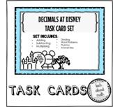 Decimals at Disney - Task Cards